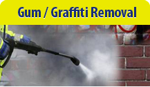 Gum-graffiti removal